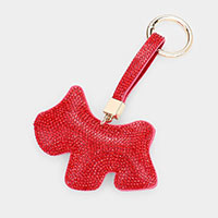 Embellished Rhinestone Dog Key Chain
