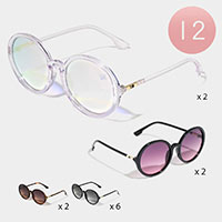 12PCS - Round Polarized Sunglasses