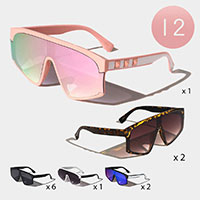 12PCS - Side Detailed Sunglasses