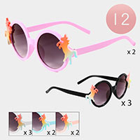 12PCS - Unicorn Round Kid Sunglasses