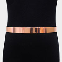Metal Bar Waist Belt