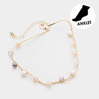 Wood Ball Beaded Rope Anklet
