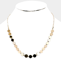 Multi Color Beaded Collar Necklace