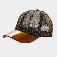Leopard Transparent Brim Trucker Hat