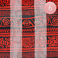 6PCS - Silk Feel Satin Tribal Ethnic Print Scarfs