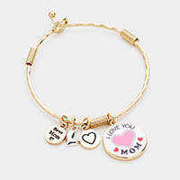 I Love You Mom Charm Bracelet