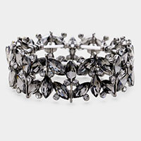 Marquise Crystal Rhinestone Evening Stretch Bracelet