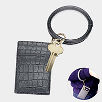 Snake Pattern Faux Leather Key Chain / Bracelet / Card Holder