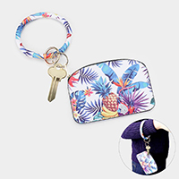 Tropical Leave Fruit Key Chain / Bracelet / Pouch Bag