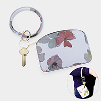 Floral Pattern Key Chain / Bracelet / Pouch Bag