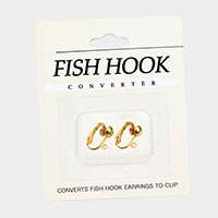 Fish Hook Clip on Earring Converters