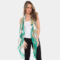 Silky Paisley Oblong Scarf