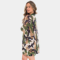 Camouflage Pattern Cover up Poncho