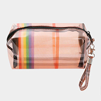 Rainbow Line Clear Pouch Bag
