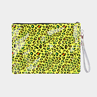 Neon Leopard Clutch Bag