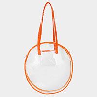 Clear Round Tote Bag
