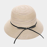 Straw Bow  Cloche Summer Hat