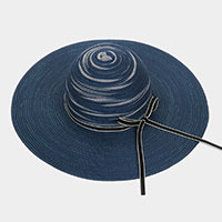 Straw Bow Beach Sun Hat