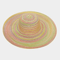 Colorful Straw Beach Sun Hat
