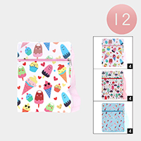 12PCS - Ice cream Pattern Zipper Cossbody Bags