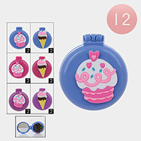 12PCS - Sweet Desert Pop Up Compact Mirrors Hair Brushes