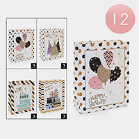 12PCS - Happy Birthday Print Gift Bags