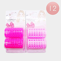 12 Set Of 2 - Double Layer Hair Curler Rollers