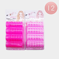 12 Set Of 4 - Double Layer Hair Curler Rollers