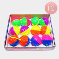 12PCS - Flashing Spiky Toy Balls