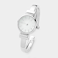 Analog Dial Simple Metal Cuff Watch