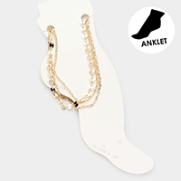 3PCS - Metal Chain Link Layered Anklets