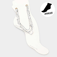 3PCS - Chain Link Layered Anklets