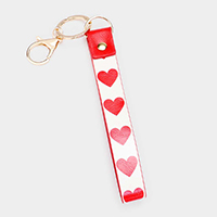 Valentines Heart Faux Leather Key Chain