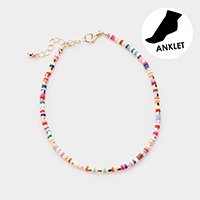 Colorful Beaded Anklet