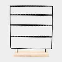 4 Row Earrings Display Stand Rack