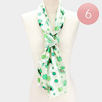 6PCS - Silk Feel St. Patrick's day Clover Scarves
