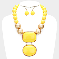 Chunky Resin Statement Necklace