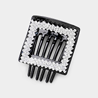 Embellished Rhinestone Square Hair Claw Clips