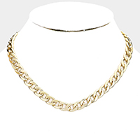 Chain Metal Link Collar Necklace