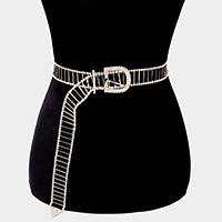Embellished Crystal Cut Out Waist Belt