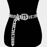 Embellished Crystal Rhinestone Buckle Belt