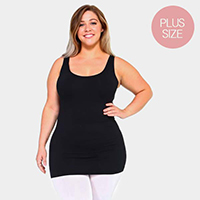 Plus Size Seamless Sleeveless Tank Top