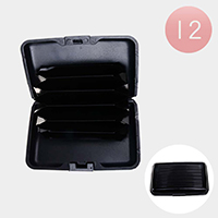 12PCS - Black Simple Ultra Slim Lightweight Card Holders