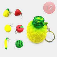 12PCS - Fruits Squishy Key Chains