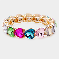 Heart Crystal Stretch Evening Bracelet