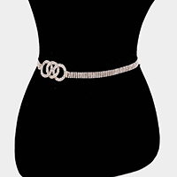 Triple Open Circle Rhinestone Belt