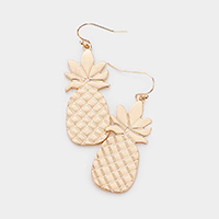 Textured Metal Pineapple Earrings