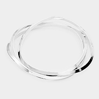 3PCS - Wavy Metal Bangle Layered Bracelets