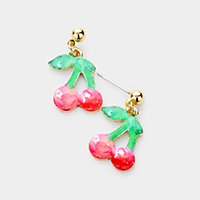 Cherry Metal Earrings