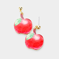 Apple Metal Earrings